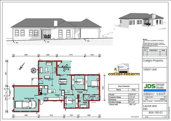 180 m² 3 bed 2 bath 2 garage
