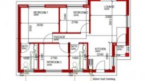 67 m² 3 bed 2 bath
