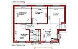 55 m² 3 bed 1 bath