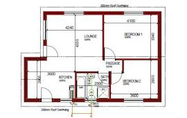 67 m² 2 bed 1 bath